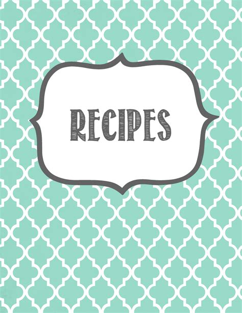 Recipe Book Cover Template Free by Melanie Gets Married Recipe Binder Printables