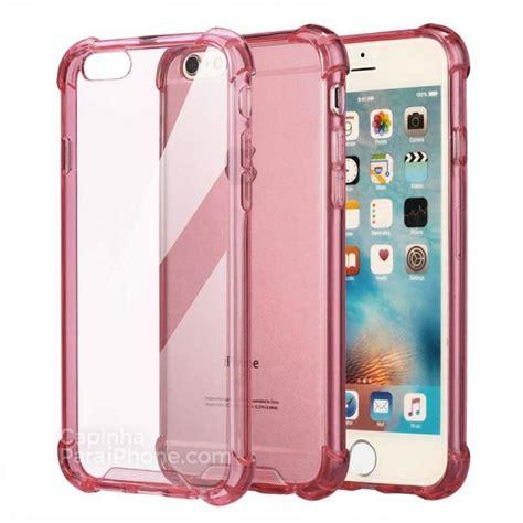 capa para iphone 6 6s anti queda rosa transparente capinhaparaiphone