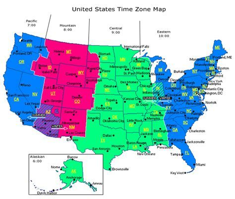 time change map usa map of time zones in america truck drivers are on