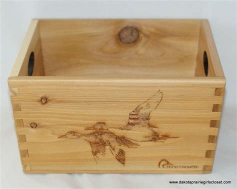 Ducks Unlimited Home Decor Ducks Unlimited Du Decorative Wood Shell Crate Box Wooden Home Decor Collectible Ducksunlimted