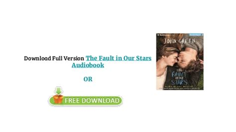 the fault in our stars free audiobook the fault in our stars audiobook english free download