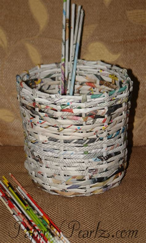 How To Make A Paper Weave Basket - 437 best images about diy paper on paper
