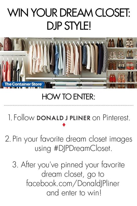 Win The Closet Of Your Dreams From Bryant And Closet by Follow Donald J Pliner On And Pin Your