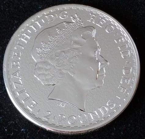 1 Troy Ounce Silver Coin Price - 2 pound britannia 2015 1 oz troy ounce 999 silver
