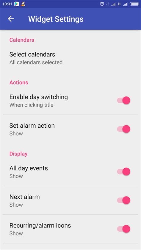 Daily Calendar Widget Material Daily Calendar Widget Un Calendario Che Si