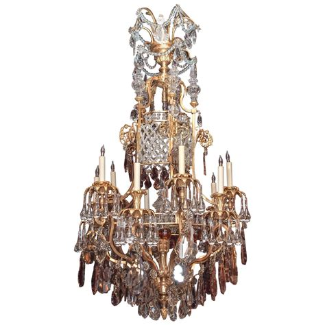 Baccarat Chandelier Prices Antique Napoleon Iii Multi Color Baccarat And Ormolu Chandelier At 1stdibs