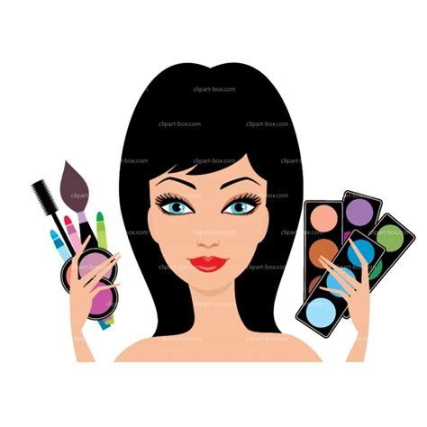 makeup clip hair clipart makeup artist pencil and in color hair