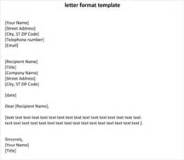 letter format template 8ws templates forms