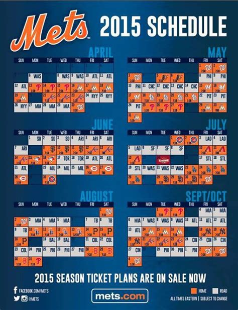 the 2015 mets schedule is here highlights of