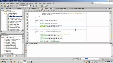 java chat room java sockets coding a client server chat room 2 of 3