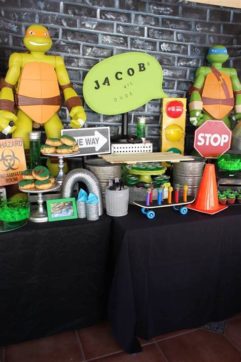 Turtle Table Decorations by Kara S Ideas Totally Rad Mutant Turtles
