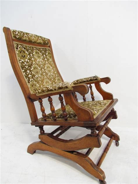 Victorian Armchair For Sale An Antique Walnut American Rocking Chair Armchair C 1910