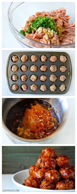baked orange chicken meatballs recipe  justatastecom tasty inspiration chicken