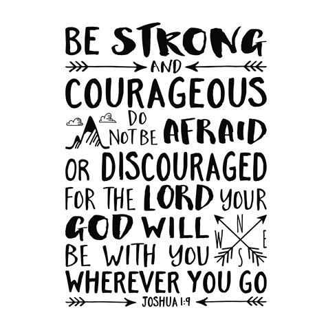 be strong and courageous joshua 1 9 navy christian joshua 1v9 vinyl wall decal 42 be strong and courageous
