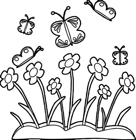 field of flowers coloring page nice field of flowers coloring page pictures inspiration