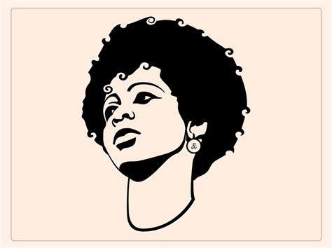 afro hairstyles vector pics for gt afro silhouette clip art