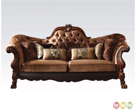 victorian loveseat dresden victorian tufted sofa loveseat in gold velvet