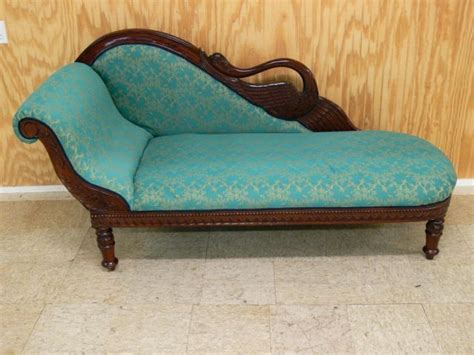 swan fainting couch swan back vintage style fainting couch chaise