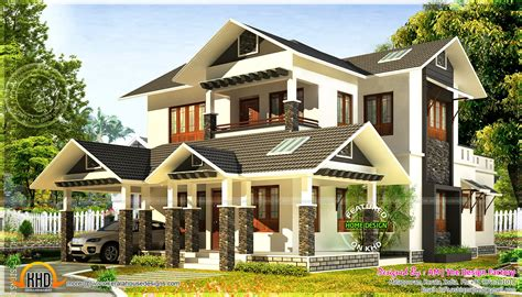 kerala style traditional sloping roof house kerala home design and floor plans 2193 square feet 3