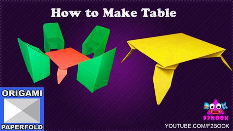 How To Make A Origami Table - origami table folding how to make paper