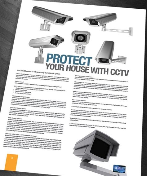 Leaflet Design For Cctv | brochure page layout design cctv feature layouts