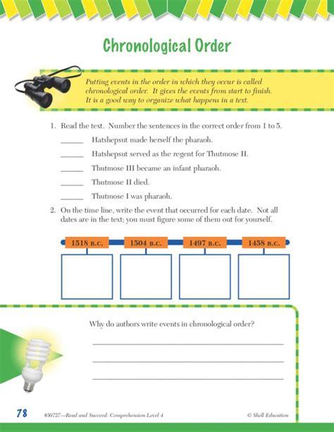 chronological order worksheets