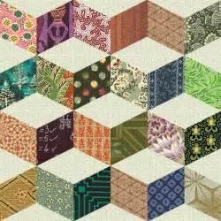 Designer Quilt Patterns by Vintage Quilt Patterns Shifting Cubes Necker S Cube