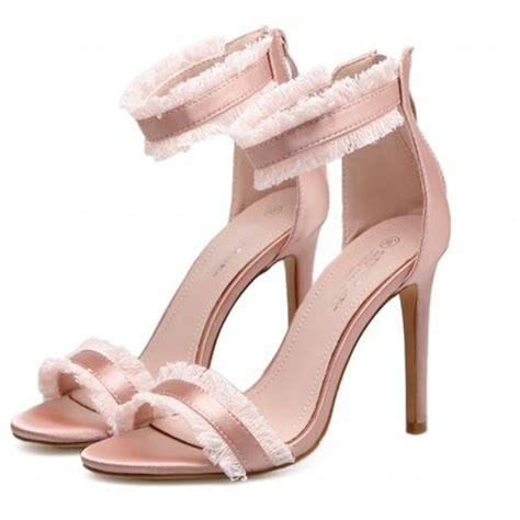 fringe sandals heels gold fringe high heel sandals