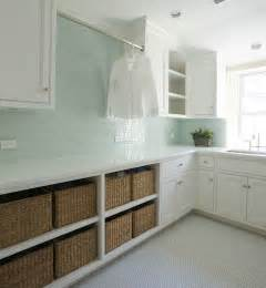 Kelly deck design laundry mud rooms green subway tiles green
