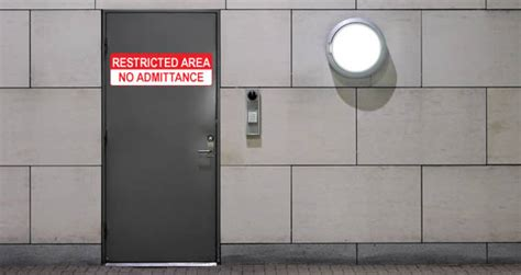 Restricted Room by Restricted Area Sign Decal Dezign With A Z