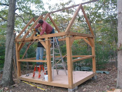 Shed Roof Timber by Timber Frame Shed Design Shed Plans Package