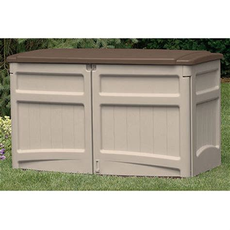 suncast horizontal storage shed  patio storage