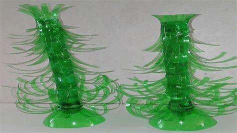 como hacer arbol de navidad con botellas de plastico