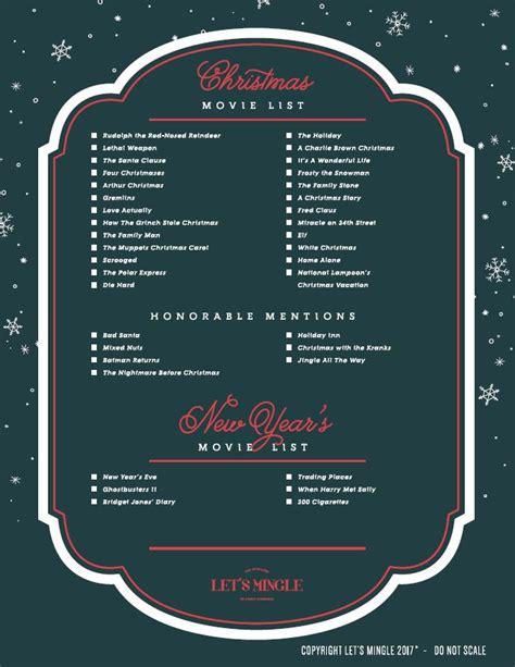 printable christmas movie list printable christmas movie list let s mingle blog