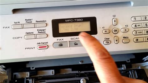 resetting brother printer toner toner ended brother mfc 7360 how to reset youtube
