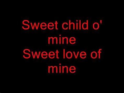 child testo sweet child of mine con testo