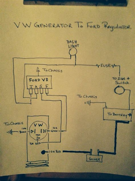 volkswagen voltage regulator wiring diagram wiring