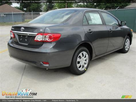 Gray Toyota Service Magnetic Gray Metallic 2011 Toyota Corolla Le Photo 3