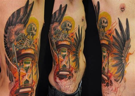 this new tattoo design by jee sayalero takes death
