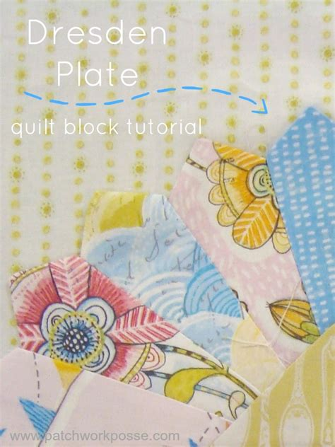 50 Bag Tutorials Patchwork Posse Easy Sewing Projects - dresden plate quilt block tutorial and template