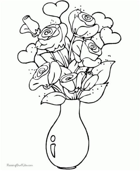 coloring pages of flowers for s day s day roses coloring pages designcorner