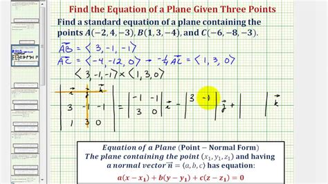 Why Do All Aircrfats Form Jro Stop In Mba by Ex Find The Equation Of A Plane Given Three Points In The