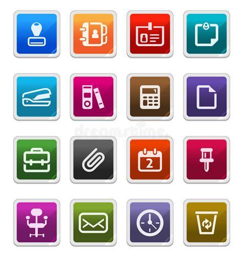 icone ufficio icone degli articoli per ufficio serie dell autoadesivo
