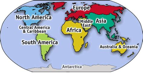 map of continents with country names countries and nationalities esl resources