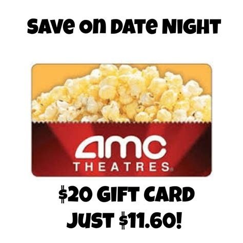 Amc Gift Card Deals - 20 amc theaters gift card just 11 60