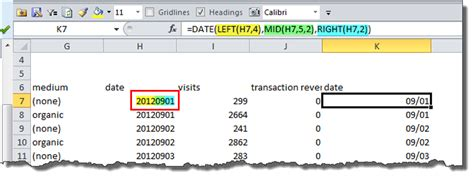 format date formula how to convert google analytics funky month of year