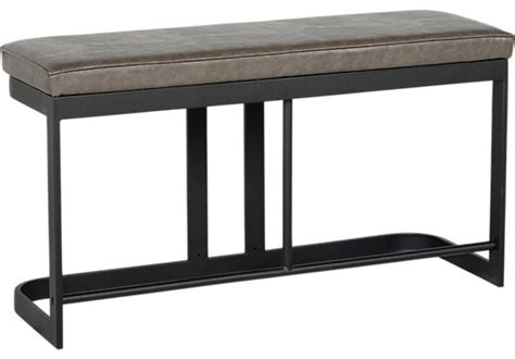 dining bench height jansen gray counter height bench contemporary