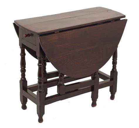 Small Drop Leaf Table Small Charles Ii Oak Oval Drop Leaf Table At 1stdibs