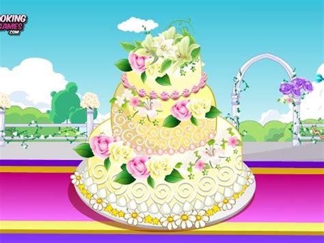 rose wedding cake  fun  cooking decorating games  girls kids teens youtube
