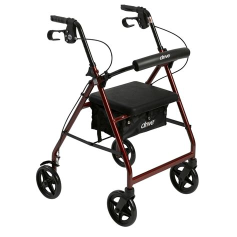 drive rollator aluminum rollator with fold up removable back support